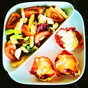 Salad and parma ham