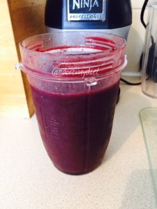 Berry good for you smoothie.